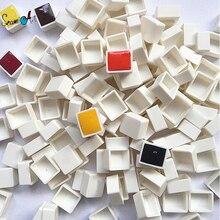 6/12/24/36/48pcs Empty Full/Half Pan White Half Pans Paint Plastic Watercolor Grid Artists Palette Art Supplies
