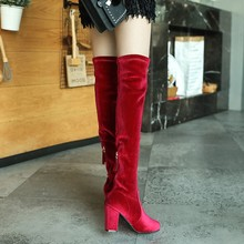 OOMTLI / size 35-43, 2019 New shoes women boots black over the knee sexy autumn and winter Pleas