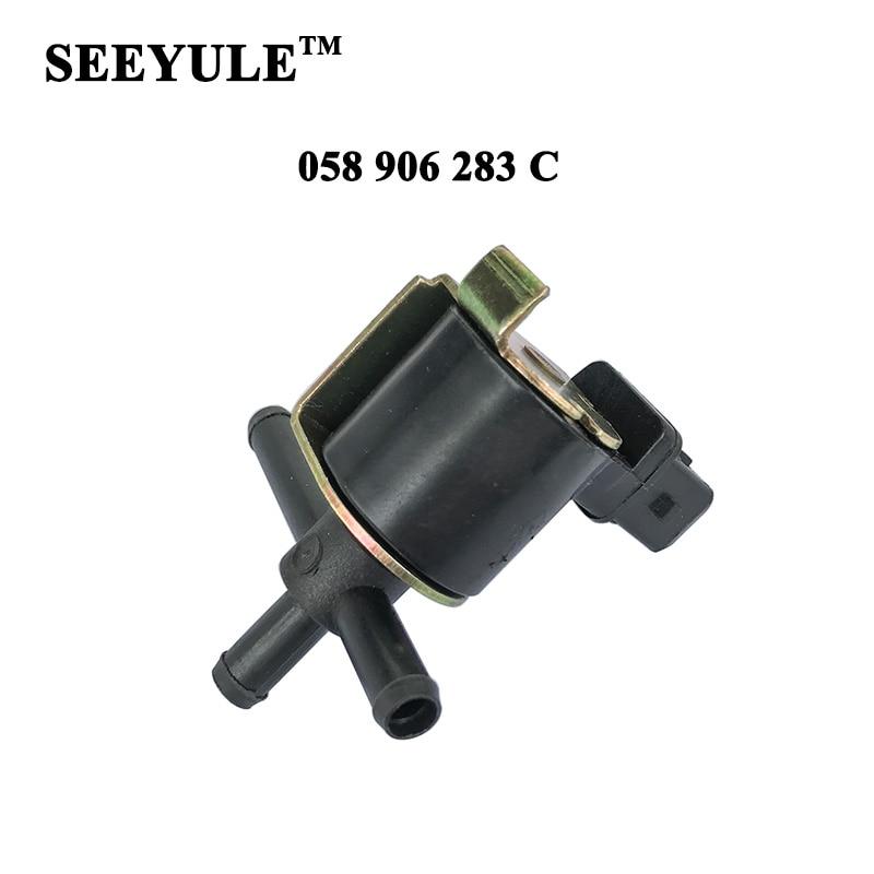 1ks SEEYULE 058 906 283 C Přívod vzduchu do turbodmychadla elektromagnetický ventil turbodmychadla pro VW Passat Golf Audi A4 A6 058 906 283C