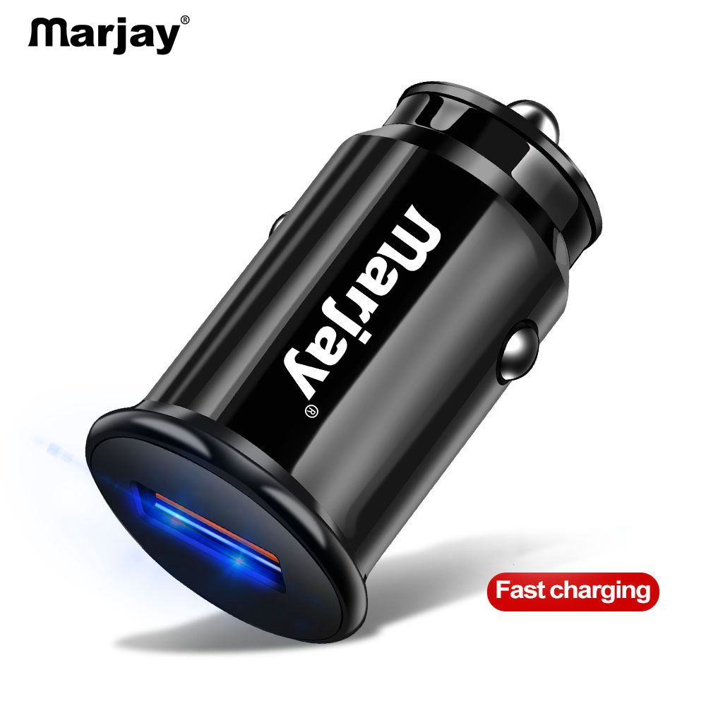 Marjay Mini USB Car Charger Quick Charge 3.0 Car Phone Charger for Xiaomi mi Samsung iPhone QC3.0 QC Fast Mobile Car Charging