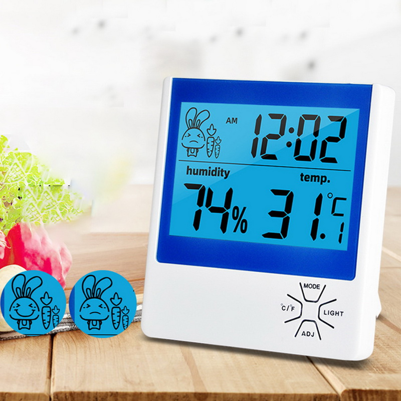 Electronic Thermometer Digital Wireless Hygrometer Humidity Monitor LCD Display Bracket Hygrometer Alarm Function Hot