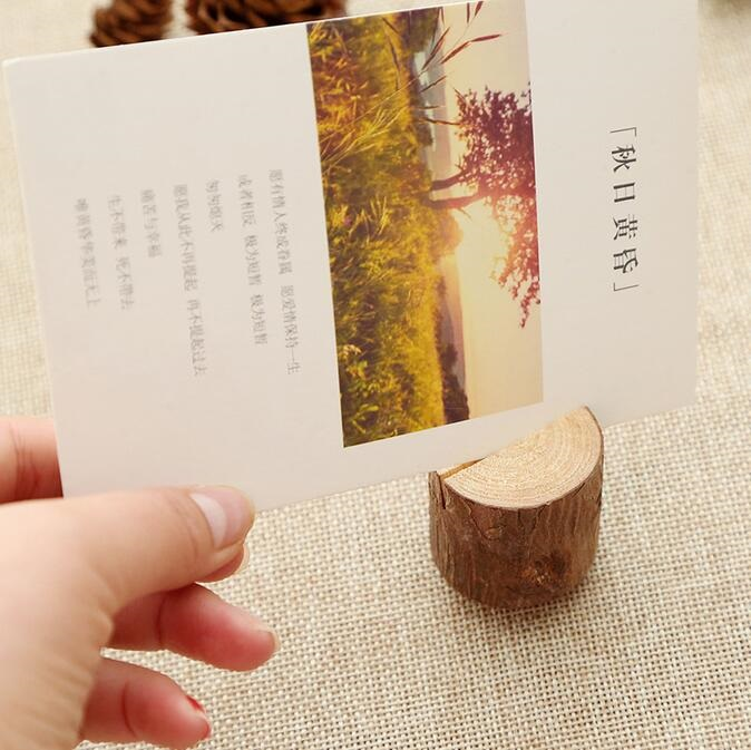 30pcs/lot Wooden Cylindrical Clamp  Vintage Simple Nature Clothespin Craft Clips Decoration For Photo And Card