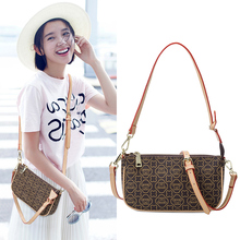 womens  fashion versatile high-grade atmospheric soft leather printed shoulder bag female Messenger hand