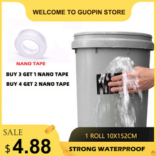 (Buy 3 get 1 Nano tape) Super Strong Waterproof Stop Leaks Seal Repair Wate Pipe Transparent Tape Self Fiber Fix Adhesive 152cm