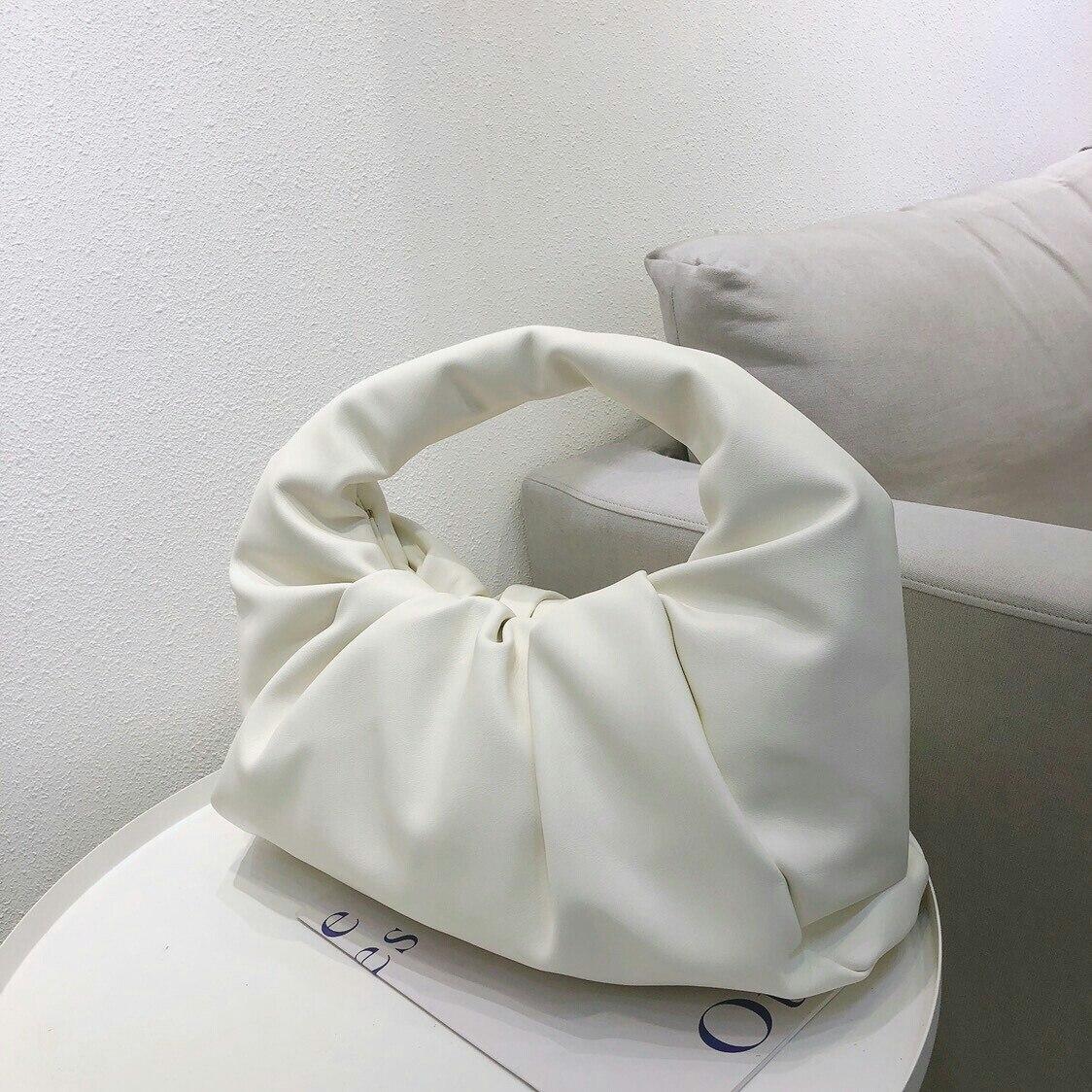 Fashion Pu Shoulder Bags For Women Soft Leather Handbags Retro Solid Color Underarm Bags Elegant Ladies Handbag Shoulder Bag