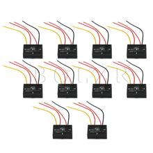 10PCS BQLZR Black 6 12VDC XD 622 On/Off Touch Switch for LED Lamp Bulb Isolated Sensor