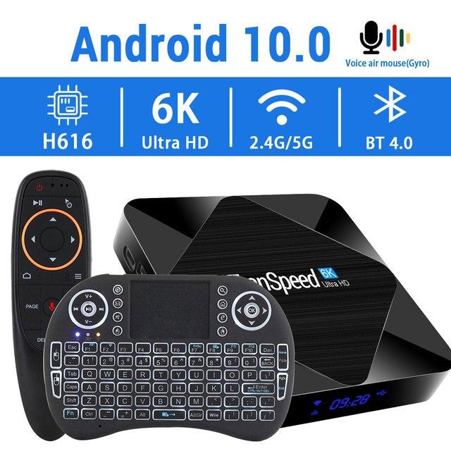 2020 אנדרואיד 10.0 טלוויזיה תיבת 2.4G & 5.8G מהיר Wifi 6K 4K גוגל עוזר H616 Quad core 16GB 32GB 64GB מדיה נגן סט למעלה טלוויזיה תיבה