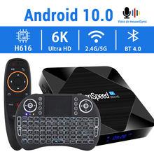 2020 android 10.0 caixa de tv 2.4g & 5.8g rápido wifi 6k 4k google assistente h616 quad core 16gb 32gb 64gb media player conjunto superior caixa de tv