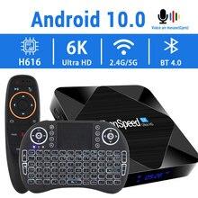 2020 Android 10.0 TV kutusu 2.4G & 5.8G hızlı Wifi 6K 4K Google asistan H616 dört çekirdek 16GB 32GB 64GB Media Player Set üstü TV kutusu
