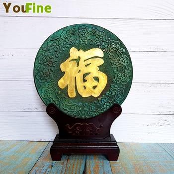 Китайская традиционная статуя, дарующая благословение украшения диск тиснением приносят удачу и благосостояние Feng Shui украшения для дома и