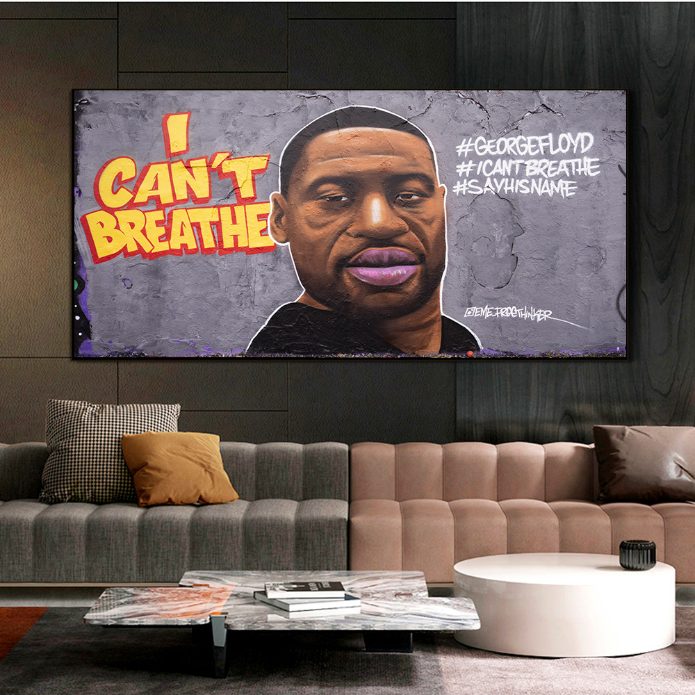 Купить джордж флойд я не могу дышать картина стеновое искусство постер