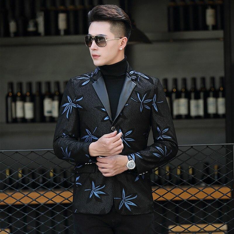 Genuine Sheepskin Leather Jacket Short Coat Slim Fit Blazer Korean Leather Jacket Veste En Cuir Homme P-LWB1803F KJ1607