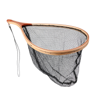 Wooden Fly Fishing Carp Landing Nylon Hand Net Catch Tackle Fishing Tool