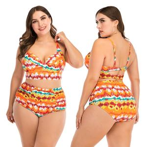 Image 5 - בגדי ים 2020 חדש בתוספת גודל 2 חתיכה להגדיר נשים בעלי החיים הדפסת בגד ים נשים של חוף בתוספת גודל Badmode XXXXL נשים של בגדי ים XXL