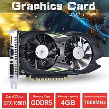 1pc GTX1050Ti 4G DDR5 Video Card Desktop Computer Graphics Card Independent High Definition HD Game 128 Bit Graphics Card