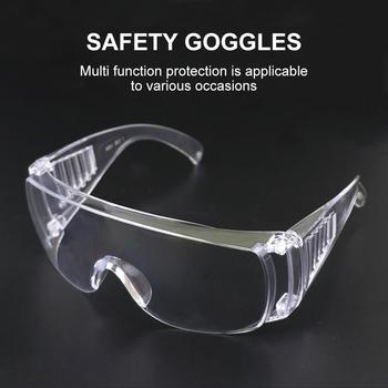 Bezpieczeństwo Очки okulary oczu Shock gogle okulary przeciwwybuchowe okulary przezroczyste soczewki kolarstwo na świeżym powietrzu okulary motocyklowe okulary tanie i dobre opinie CN (pochodzenie) 60mm 308976 WHITE 160cm Z poliwęglanu Unisex Jazda na rowerze