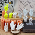 Silicone Hand Candle Mold Art Plaster Crafts 3D Stereo Aromatherapy Fondant Creative Flexible Soft DIY Handmade Tool Decoration