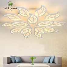 Лист Форма потолочный светодиодный светильник в помещении роскошный
