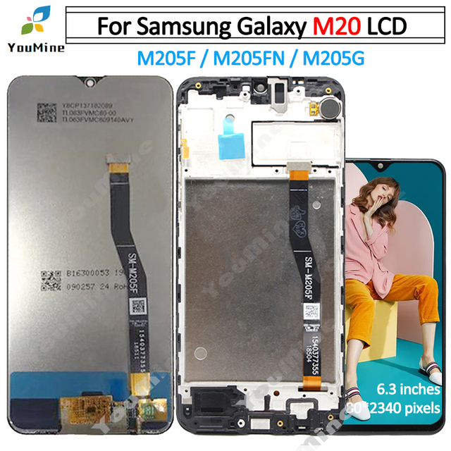 For Samsung Galaxy M20 LCD Display Touch Screen Digitizer Assembly For Samsung M20 M205 M205F M205G/DS lcd Replace Part