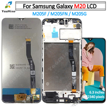 Para samsung galaxy m20 lcd screen display toque digitador assembléia para samsung m20 m205 m205f m205g/ds lcd substituir parte
