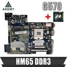 Akemy placa-mãe do portátil para lenovo g570 piwg2 LA-675AP mainboard hm65 ddr3 soquete pga989