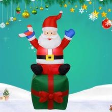 Christmas Inflatable Santa Claus LED Lighted Mall Yard Decoration Indoor Outdoor Inflatable Old Man Snowman Christmas Decoration lighting inflatable shiny snowman for christmas decoration