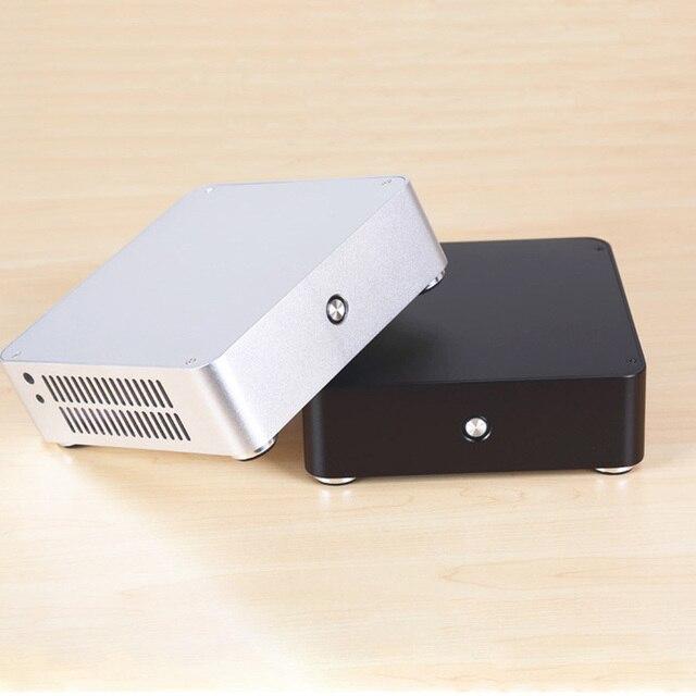 E-H60 Office Aluminum Alloy Cooling Slim Horizontal HTPC Chassis Mini 6