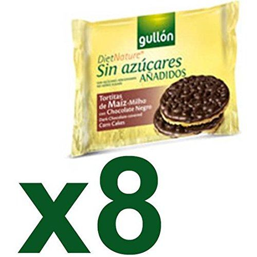 Biscuits Gullón Corn Pancake With Chocolate Black Box 8 x 25 gr