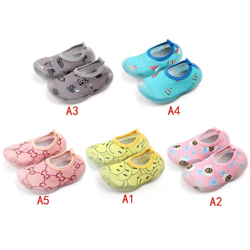 Newborn Baby Boys Girls Socks With Anti-Slip Soft Rubber Soled Outdoor Foot Socks Infant Children Animal Cartoon Floor  Socks