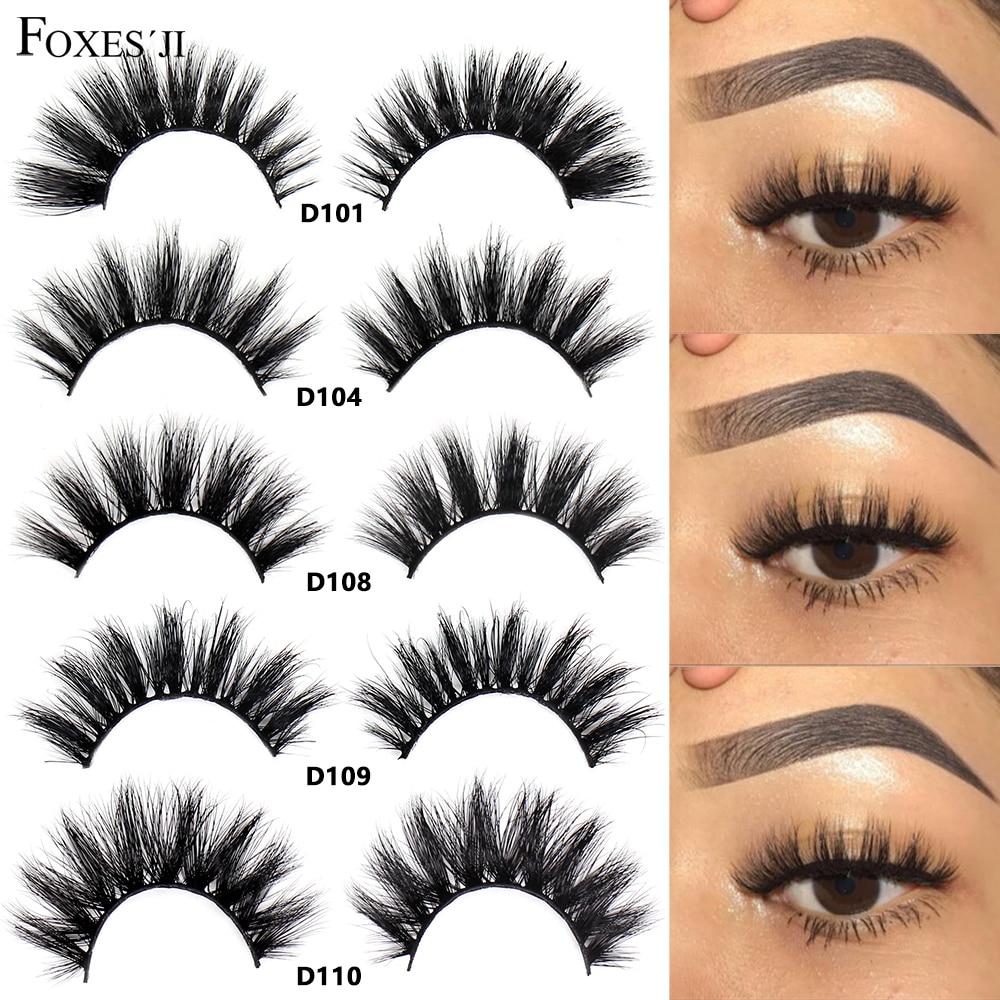 FOXESJI Mink Eyelashes Eyelash Extension Lashes Thick Crisscross Fluffy Natural Lashes Fales Eyelashes Volume Lashes maquiagem