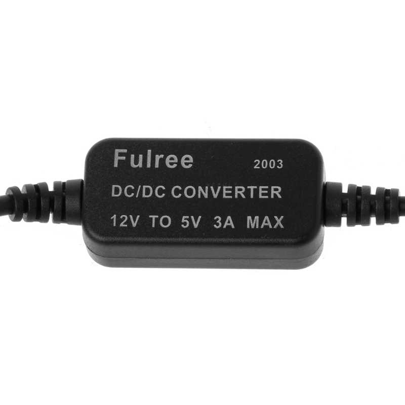 Car Charger Micro USB 12V to 5V 3A Power Supply Converter สำหรับ PDA DVR กล้องวิดีโอ