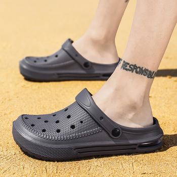 2020 Clax chodaki ogrodowe dla mężczyzn szybkie suszenie klapki plażowe na lato płaskie oddychające Crocse sandały wyjściowe męskie buty ogrodnicze tanie i dobre opinie Warm like home Galaretki Buty NONE Zwięzłe Slip-on Niska (1 cm-3 cm) Pasuje prawda na wymiar weź swój normalny rozmiar