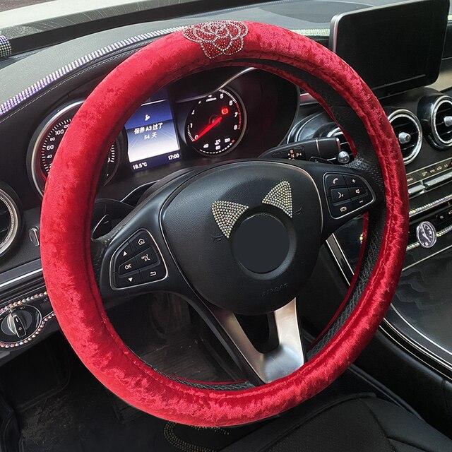 Ensembles de housse de siège de voiture pour femmes filles tapis de coussin universel rose accessoires de voiture de mariage décoration intérieure noir rouge vert