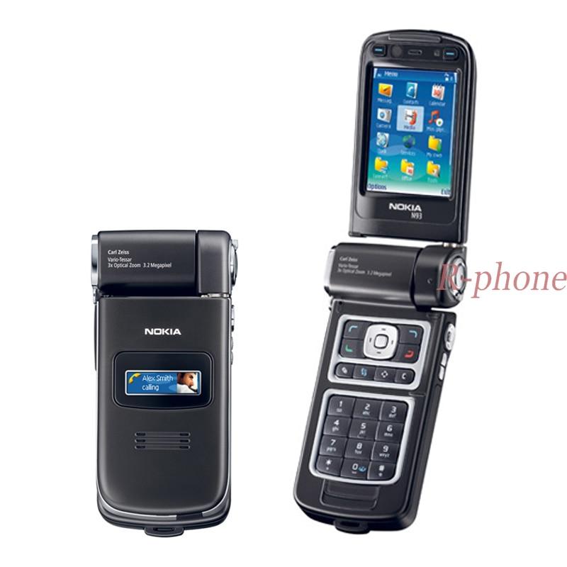 Original NOKIA N93 Mobile Cell Phone GSM Tri Band 3 2MP MP3 Wifi Bluetooth 3G Smartphone