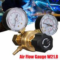 Mini Argon CO2 Gas Flasche Druck Regler MIG TIG Schweißen Flow Meter Gauge W21.8 1/4 Gewinde 0-20 mpa regler