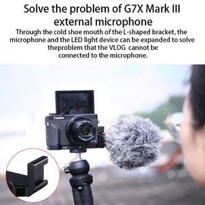 Image 2 - Uurig R016 L Plate Cho Canon G7X Mark III Micro Mở Rộng Phát Hành Nhanh Giá Đỡ Với Giày Lạnh Cầm Tay