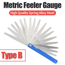 100B17 Feeler Gauge Metric Size0.02-1.00mm Feeler Gauges Thick Stainless Steel Material Rangefinder Thickness Detection Tool Gap