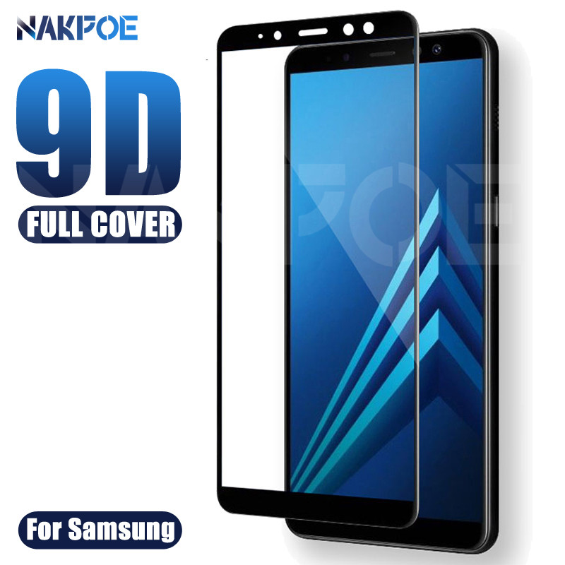 9D Full Cover Tempered Glass On For Samsung Galaxy A3 A5 A7 2016 2017 A6 A8 Plus A9 2018 Screen Protector Safety Protective Film