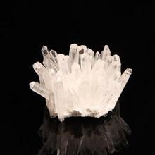 1PC duży rozmiar naturalny przezroczysty kwarcowy bryła kryształowa uzdrowienie surowy kamień szlachetny Geode Drusy okaz do dekoracji wnętrz Fengshui