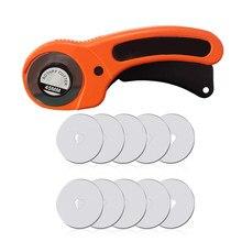 Olfa Cut Cortador rotativo de 45mm, para trabalho em couro, ferramentas de corte em tecido lâmina circular, para faça você mesmo, para costura, para quilting
