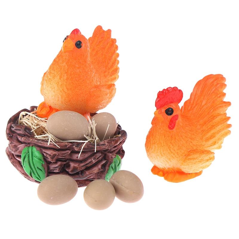 1//12 Dollhouse Miniature Accessories Nid de poulet avec 10 oeufs