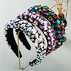 Vintage Luxury Sparkly Full Crystal Pearl Hairband  1