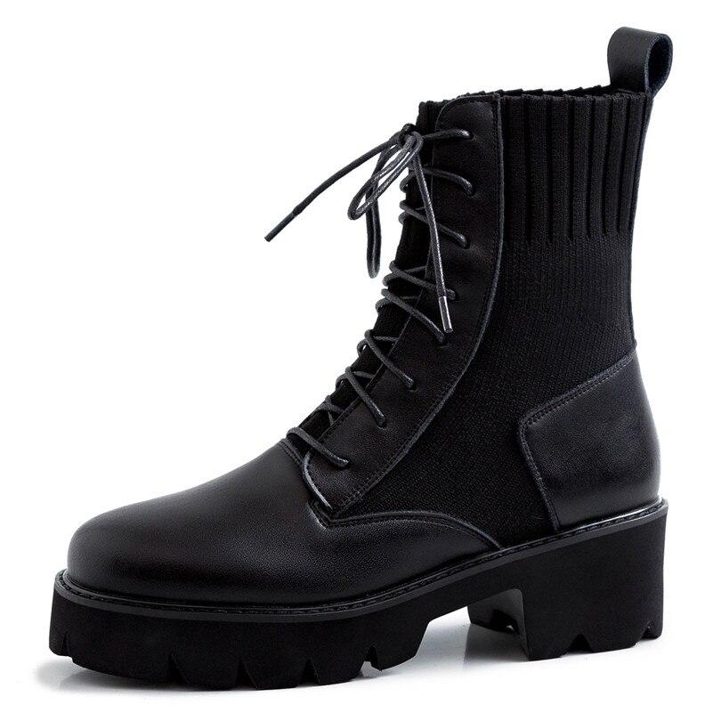 Incontri, casual, moda bianco collare di cuoio stivali - 5