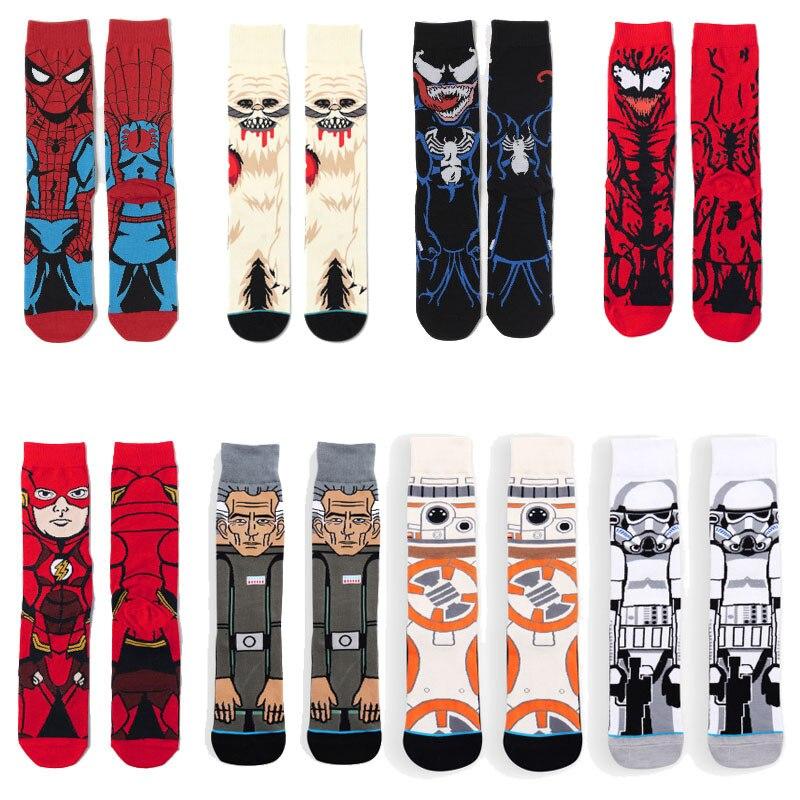 2021 marvel anime spiderman imprimir meias meu herói academia feminino mans joelho-alta cosplay bezerro meia marvel adulto casual meias