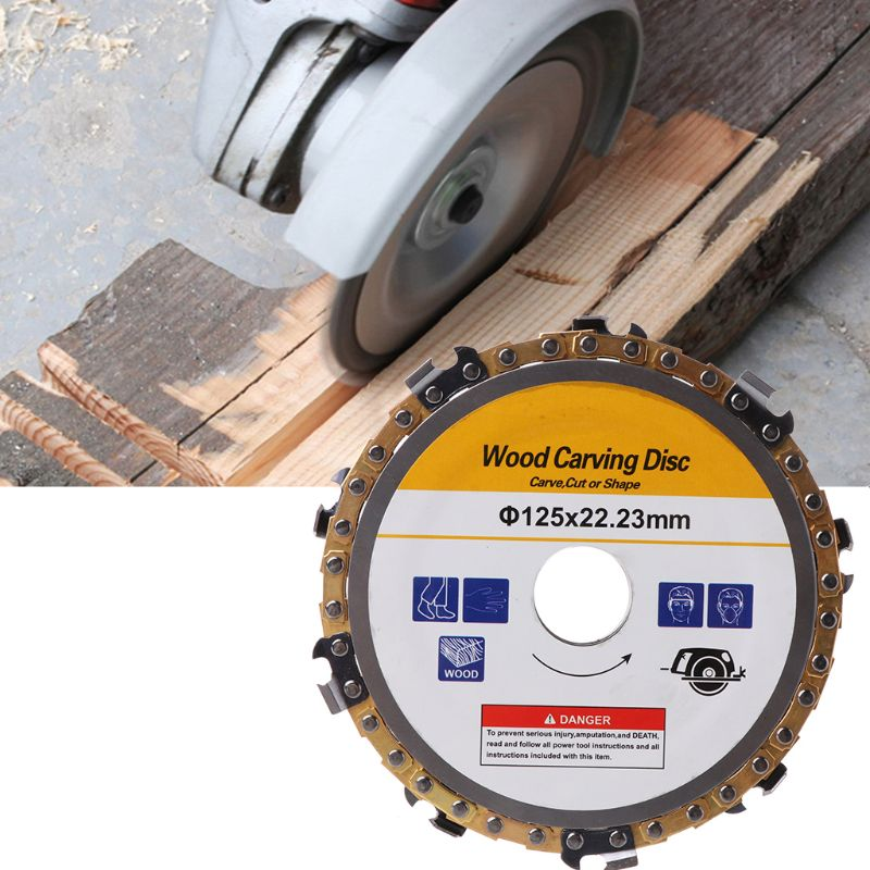 5inch 22mm Diameter 9 Tooth Chainsaw Disc For Angle Grinders Circular Saw Blade Woodworking Cutting Wood Slotted Cutting Piece