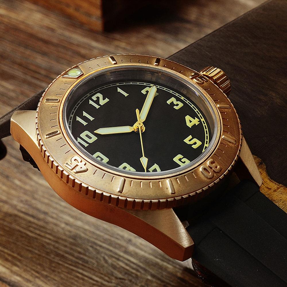Image 3 - San Martin Diver Bronze Automatic Rotating Bezel Mens Mechanical Watch 200m Water Resistance Band Luminous DialSports Watches   -