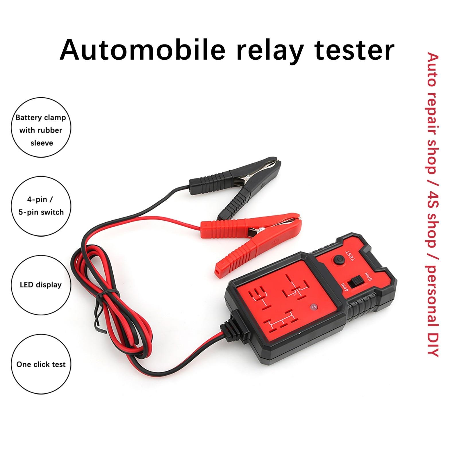 Электронный релейный тестер с зажимами, устройство для проверки автомобильных аккумуляторов, 12 В, с автоматическим кодированием, с индикат...