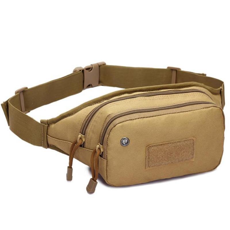 Waterproof Waist Bag Fanny Pack Hiking Fishing Sports Hunting Waist Bags Belt Sports Cycling Bags Brown