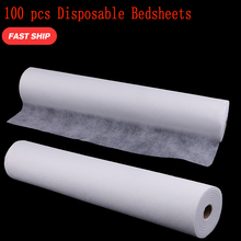 100Pcs Disposable Bed Sheet Roll Spa Massage Treatment Chiropractic Tattoo Table Cover Headrest Tissue Roll Disposable Bed Paper