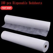 Rollo de sábana desechable para cama, 100 Uds., tratamiento de masaje de Spa, tatuaje quiropráctico, cubierta de mesa, reposacabezas, rollo de papel desechable para cama